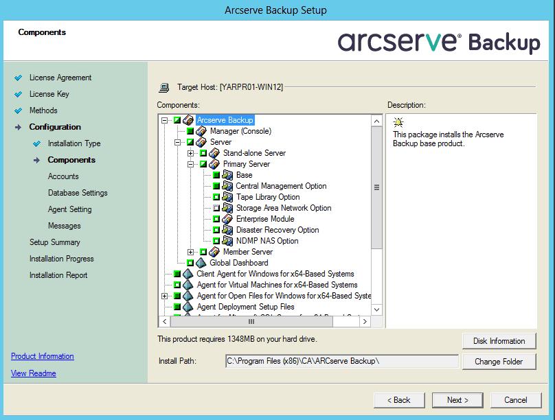 ArcServe Backup