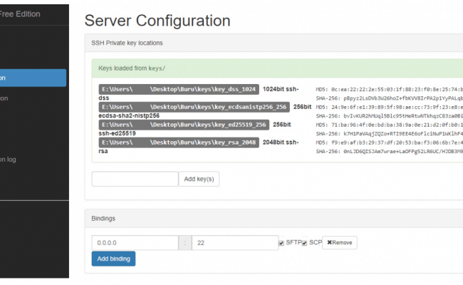 Buru SFTP Server Review - Software Portal
