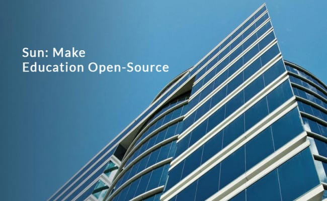 Sun: Make education Open-Source - Software Portal
