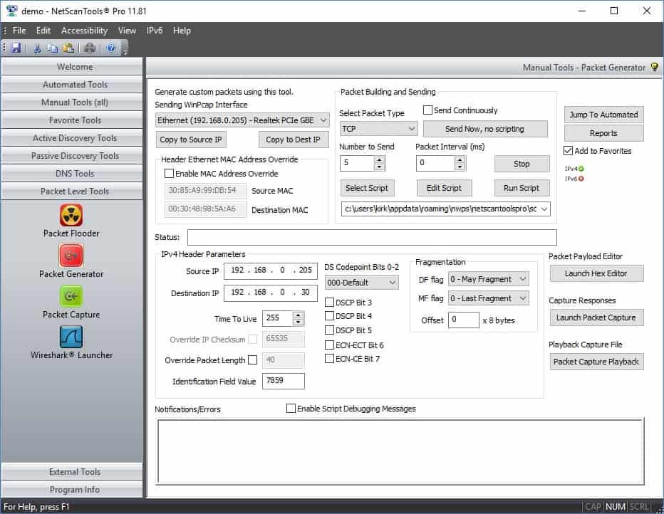 Network Traffic Generator for LAN & WAN Bandwidth Stress
